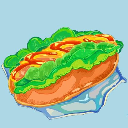 料理のイラストを描きます!