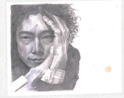 鉛筆デッサンで似顔絵を描きます!