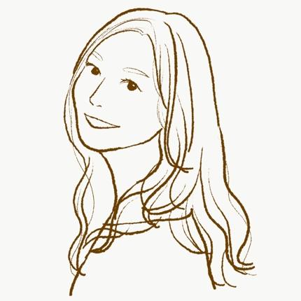 優しい雰囲気の線画似顔絵を描きます