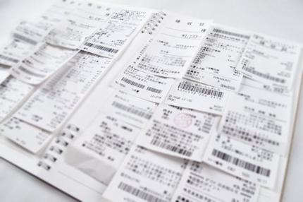貯まった領収書をエクセルで集計します!
