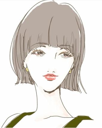 シンプルな女性のイラスト描きます