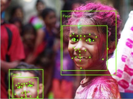 顔パーツの座標取得や顔認証を使えるようにします