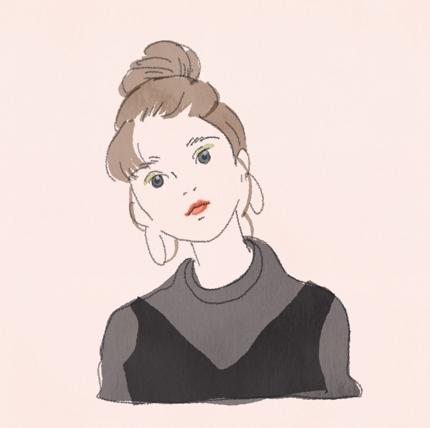 シンプルで可愛い似顔絵を作成いたします