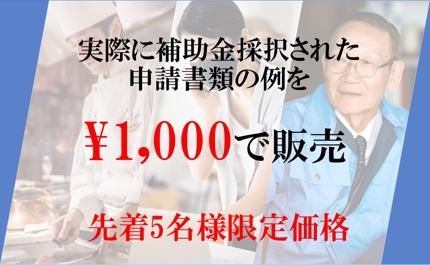 【実際に採択された申請書類】補助金テンプレ見本【最大50万円】