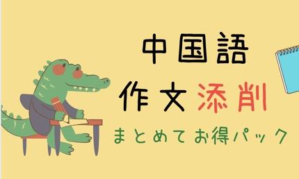 中国語作文添削