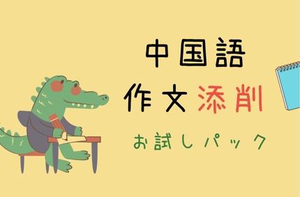 中国語作文添削 お試し