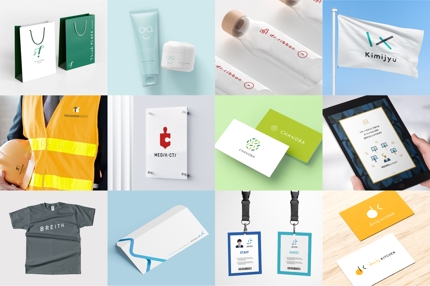 ロゴ+名刺+ロゴマニュアル(2案・ WEB+印刷対応データ納品)