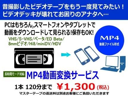 ビデオテープのMP4動画変換