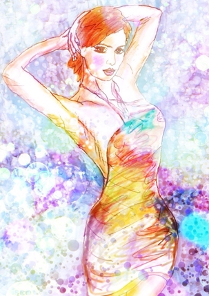 CG抽象画&美女イラスト画像販売