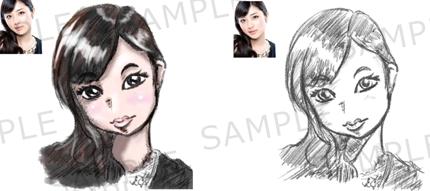 ディズニー風の似顔絵を描きます イラスト制作 ランサーズ
