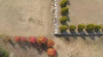 建物の空撮イメージ映像の制作