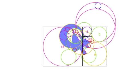 黄金比を用いたフラットデザインロゴ6個(ラフ案)