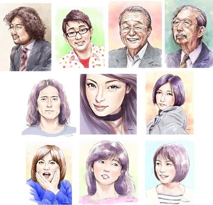 似顔絵・人物画(ペンタッチ・カラー着色)