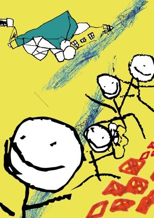 子どものお絵かきをアートにします!