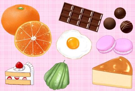 可愛い♪美味しそう♪食べ物イラスト制作