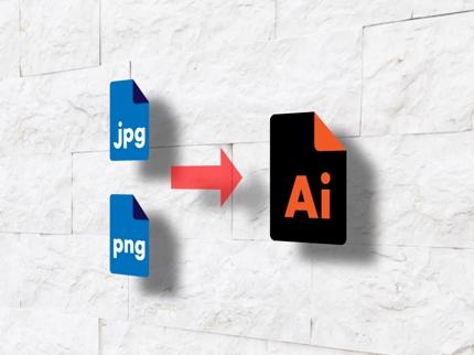 ロゴデータなどのJPG・PNG形式の画像ファイルをAI形式に変換いたします