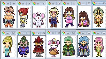 RPG風のドット絵キャラクターをデザイン&作成