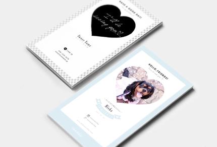 【両面・印刷込】オシャレで可愛い「ペット名刺」特別価格で作成します!