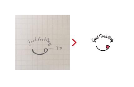写メ、ラフ画からロゴデータを作成致します。
