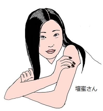 女性向きのカワイイ似顔絵
