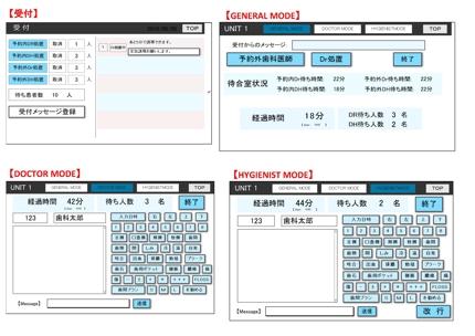 ファイルメーカー 歯科医院の待合室状況の把握、治療記録の入力システム