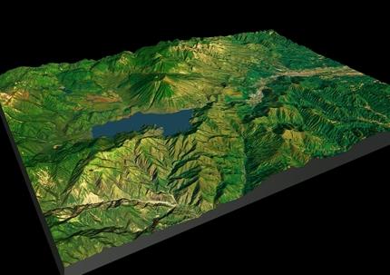 地形モデル作成(国土地理院基盤地図データ)15km範囲内