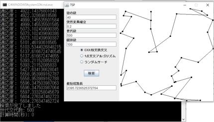 遺伝的アルゴリズムサンプルプログラム(Java)
