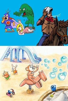 挿し絵、ゲーム開発用素材(モンスター、メカ、背景)イラスト承ります。