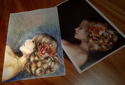 ご希望の写真を元に色鉛筆画を描きます。