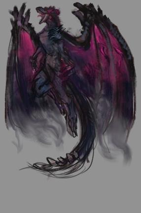 ドラゴンのイラストを制作します