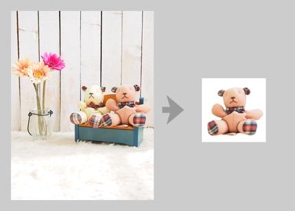 商品画像制作/JPEG 1枚/切り抜き+白バック/620px×620pxリサイズ