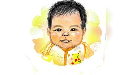 赤ちゃんの似顔絵描きます♬お誕生日お祝い、成長の記念に