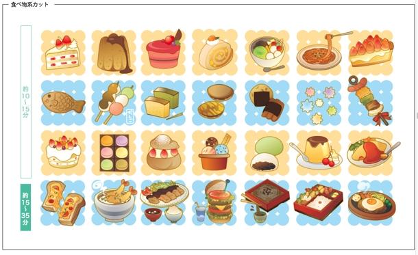 お菓子のイラスト イラスト制作 ランサーズ