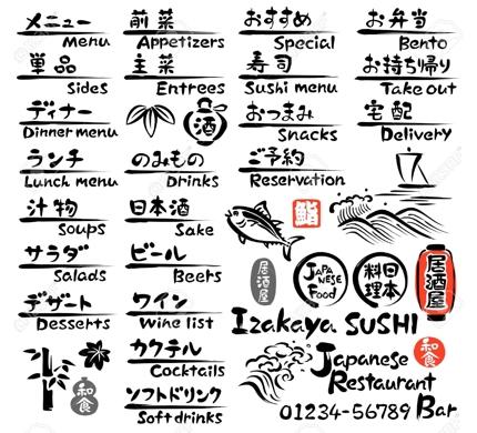 【インバウンド】飲食店 英語メニュー作成