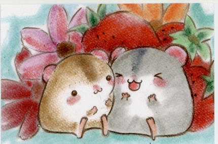 動物のキャラクター風のイラストを描きます。