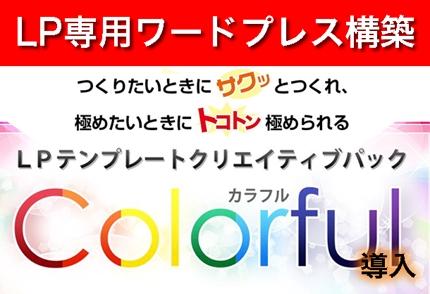 ランディングページ専用ワードプレス構築(LP専用テーマ「Colorful カラフル」導入)
