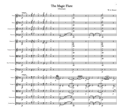 楽譜浄書(2ページあたり・ソロパート若しくはシンプルなアンサンブル)