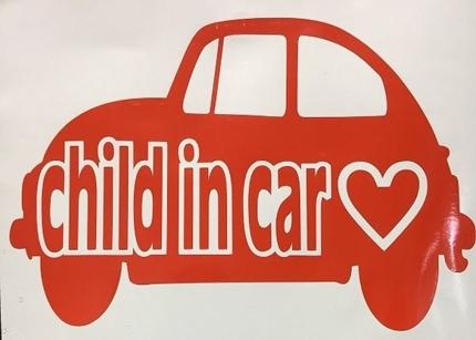 車ステッカー Child in car  baby in car