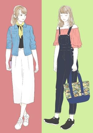 【ファッション/イラスト】コーディネートをおしゃれなイラストにします!