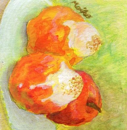 手描きイラスト* 焼きりんご