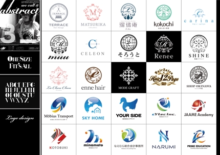 サロン・美容系・スタイリッシュなロゴを制作致します