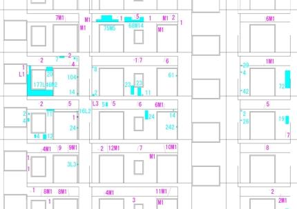 外壁改修工事に関する図面及び数量表、報告書の作成 (jwwcad exel)