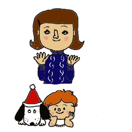 似顔絵や、家族やペットのイラスト描きます。