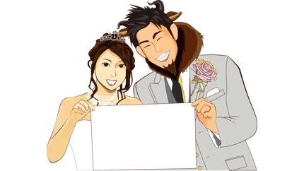 結婚式動画制作(イラスト付き)
