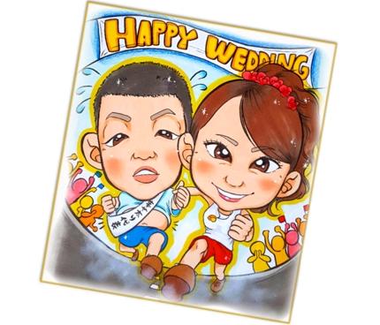 大人気★万人受けの【プレゼント】色紙/額縁用似顔絵