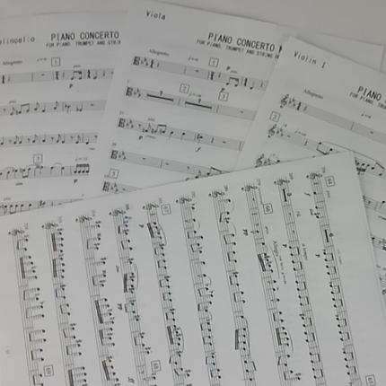 オーケストラ等のパート譜を作成します