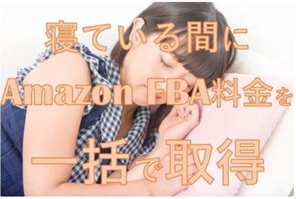 Amazon FBA料金シミュレーターからFBA手数料、重さ、サイズを取得します