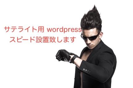 サテライト用wordpressスピード設置致します。