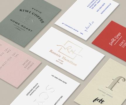 【高品質】息を呑むほど美しいシンプルな名刺、ショップカード制作