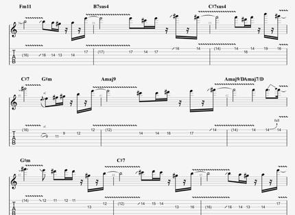 ギターのコード譜、タブ譜作成いたします